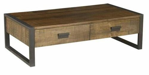 CONTEMPO (WOCN-003) COFFEE TABLE WITH 2 DRAWERS - 400(H) X 1350(W) X 750(D) - ANTIQUE NATURAL