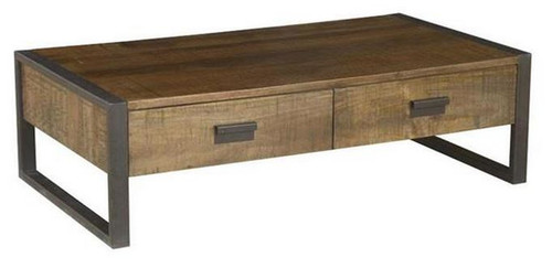 CONTEMPO (WOCN-003) COFFEE TABLE WITH 2 DRAWERS -  1350(W) X 750(D) - ANTIQUE NATURAL
