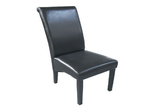 AMALFI (C-09) LEATHERETTE DINING CHAIR WITH DARK LEGS - BROWN