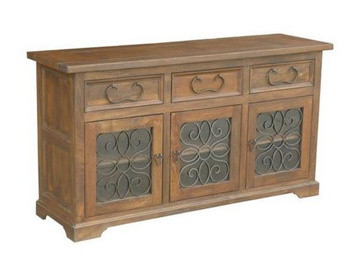 ASHLEY (WOAL-022) 3 DOOR SIDE BOARD WITH 3 DRAWERS - 920(H) X 1710(W)