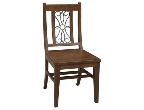 ASHLEY (WOAL-013) DINING CHAIR WITH BACK IRON