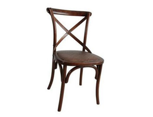 BARISTA (VBR-011) DINING CHAIR WITH RATTAN SEAT  - LIGHT HONEY