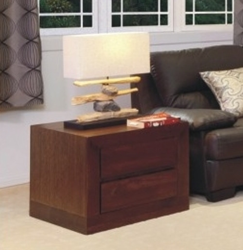 BRESSINGTON LAMP TABLE WITH 2 DRAWERS - 700(W) - CHOICE OF COLOURS