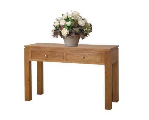 CAMERON (HTG1200) HALL TABLE WITH GROOVE TOP AND 2 DRAWERS - 760(H) X 1200(W) X 400(D) - ASSORTED COLOURS