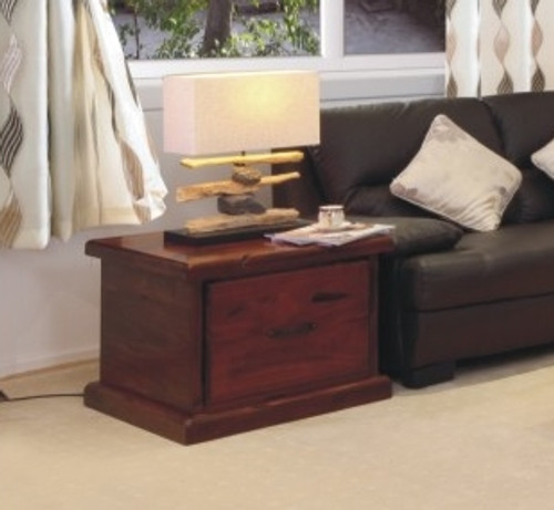 RUSTIC LAMP TABLE WITH 1 DRAWER - 700(W)