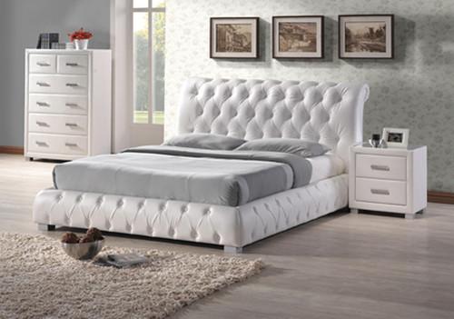VALENCIA QUEEN 3 PIECE BEDSIDE BEDROOM SUITE - WHITE OR BLACK