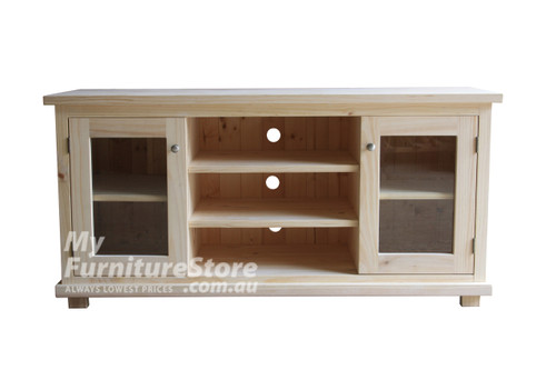ARNCLIFFE 2 DOOR TV UNIT - 1500(W) -  WHITE OR ANTIQUE WHITE (NOT AS PICTURED)