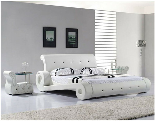 QUEEN CARPI LEATHERETTE BED (3045) - ASSORTED COLOURS