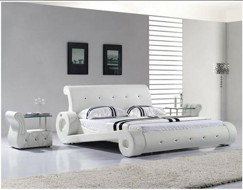 CARPI KING 3 PIECE BEDSIDE BEDROOM SUITE - MODEL 3045 WITH #25 BEDSIDES - LEATHERETTE - ASSORTED COLOURS