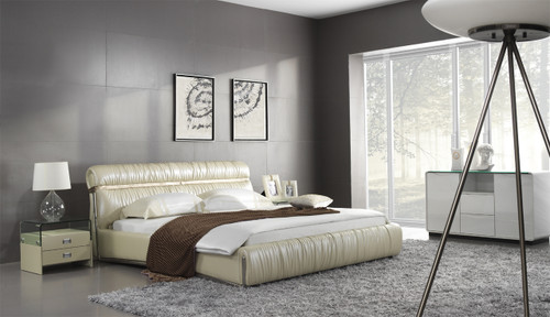 QUEEN VALLO LEATHERETTE BED (A9303) - ASSORTED COLOURS