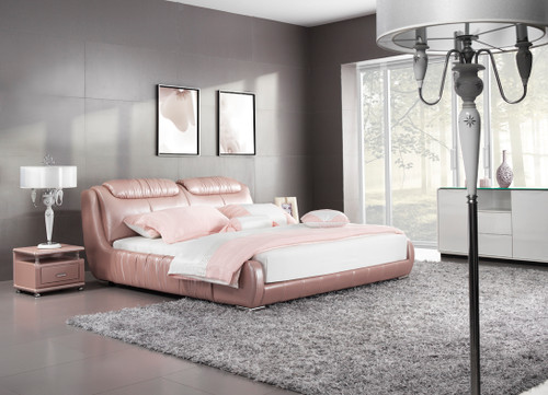 QUEEN BALIGNO LEATHERETTE BED (A9310) - ASSORTED COLOURS - (WITH OPTIONAL UPGRADE FOR GAS LIFT UNDERBED STORAGE)