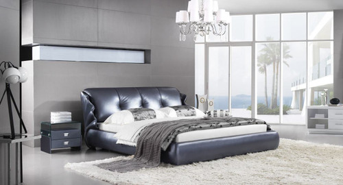 KING AGNESE LEATHERETTE BED (A9981) - ASSORTED COLOURS - (WITH OPTIONAL UPGRADE FOR GAS LIFT UNDERBED STORAGE)