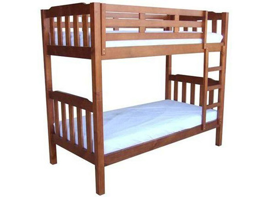 KING SINGLE SOMERSET (MODEL 1-4-5-12-1-9-4-5) BUNK BED - CHESTNUT