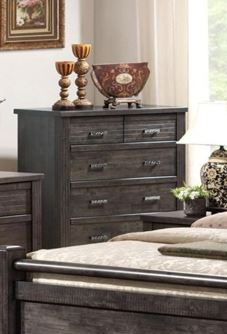 ASHCOURT  6 DRAWER TALLBOY (5-4-9-19-15-14)  -  1170(H) X 990(W)-CHARCOAL