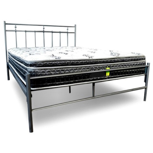 SINGLE MORGAN METAL BED - MATTE BLACK OR SILVER