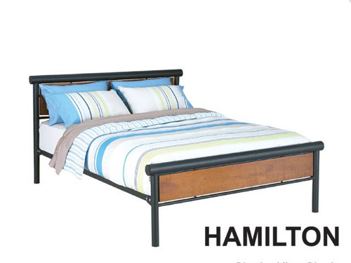 DOUBLE HAMILTON  BED - BLACK POWDER COAT