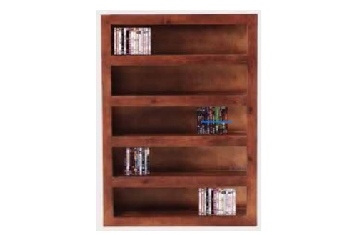 CUBE DVD BOOKCASE - 1500(H) X 1020(W) - WALNUT (3133) OR  BLACKWOOD (3134)