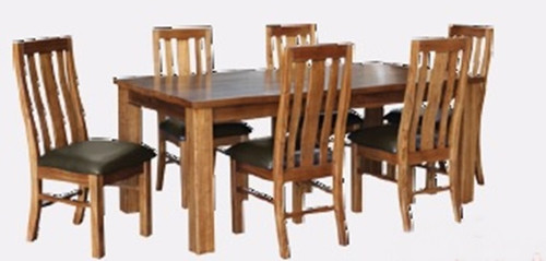 MONTANA 7 PIECE DINING SETTING - 1900(L) - MOUNTAIN GUM (2061)