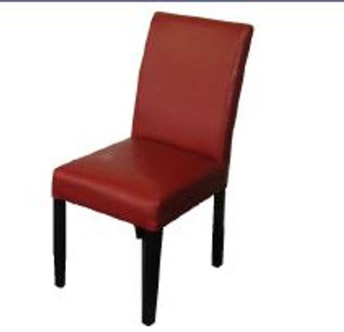 RAY DINING CHAIR (MODEL-RC5) - RED WITH WENGE LEGS
