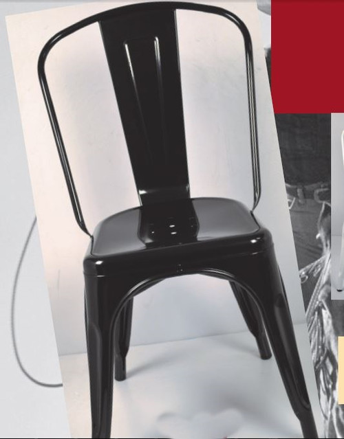 TOLEDO CHAIR - BLACK, WHITE, YELLOW , RED OR SILVER