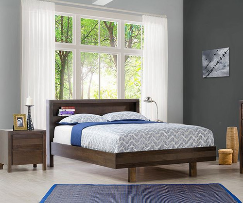 DOUBLE TREND BED (OR-164) - CHARCOAL