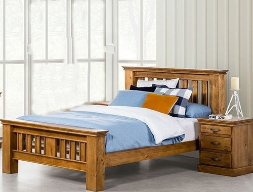 DOUBLE KIPLING ( OR-172) BED - LIGHT OAK
