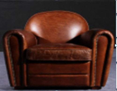 COSENZA (2038) 1 SEATER  CHAIR  -  FULL LEATHER