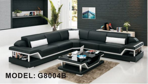 DARABANI (G8004B) CORNER LOUNGE SUITE + COFFEE TABLE - CHOICE OF LEATHER AND ASSORTED COLOURS AVAILABLE