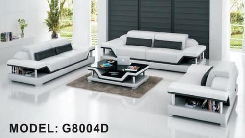 BORSEC (G8004D) 3 SEATER + 2 SEATER + 1 SEATER LOUNGE  SUITE WITH  COFFEE TABLE - CHOICE OF LEATHER AND ASSORTED COLOURS AVAILABLE