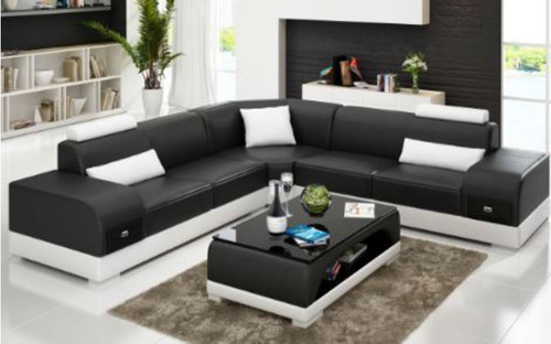 SUNBURY (G8009C) CORNER LOUNGE SUITE + COFFEE TABLE - CHOICE OF LEATHER AND ASSORTED COLOURS AVAILABLE