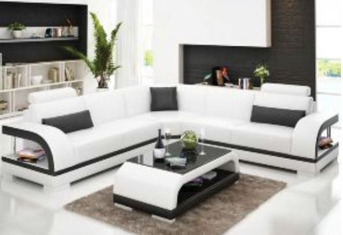 ZIKKI (G8011B) CORNER LOUNGE SUITE + COFFEE TABLE - CHOICE OF LEATHER AND ASSORTED COLOURS AVAILABLE