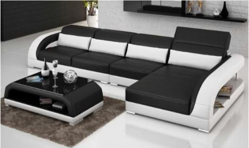 DANLILY (G8016C)  CHAISE LOUNGE + COFFEE TABLE  - CHOICE OF LEATHER AND ASSORTED COLOURS AVAILABLE