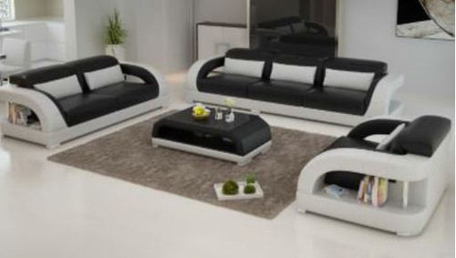 DANLILY (G8016D) 3 SEATER + 2 SEATER + 1 SEATER LOUNGE  SUITE WITH  COFFEE TABLE - CHOICE OF LEATHER AND ASSORTED COLOURS AVAILABLE