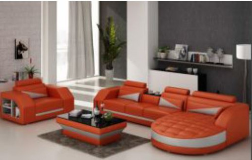 YORO (G8018F)  CHAISE LOUNGE + COFFEE TABLE  - CHOICE OF LEATHER AND ASSORTED COLOURS AVAILABLE