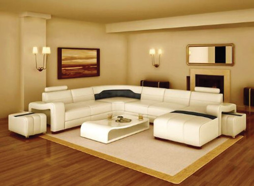 BENSALEM (F3008) CORNER  LOUNGE SUITE +  COFFEE TABLE - CHOICE OF LEATHER AND ASSORTED COLOURS AVAILABLE