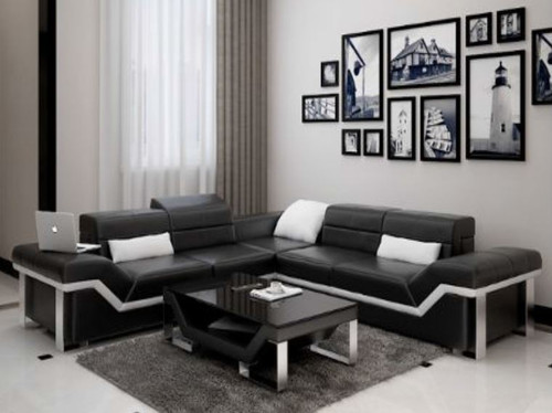 BEAZ (K5007B) CORNER  LOUNGE SUITE +  COFFEE TABLE - CHOICE OF LEATHER AND ASSORTED COLOURS AVAILABLE