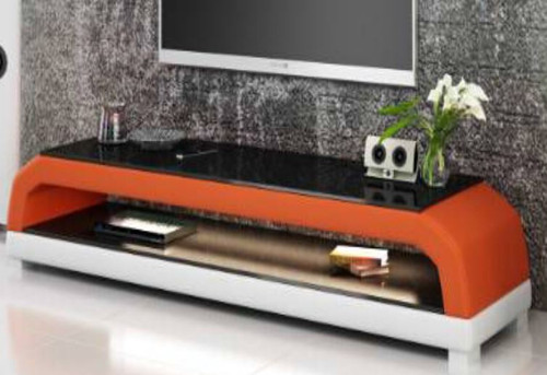 ANGLET  (TS1001) TV STAND   - FULL PVC + 2 TEMPERED GLASS + LIGHT   - 1950(W)