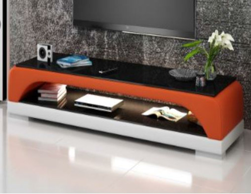 BIOT (TS1005) TV STAND   - FULL PVC + 1 TEMPERED GLASS + LIGHT - 1950(W)