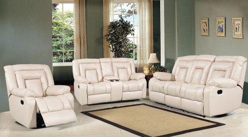DAISY 3RR + 1R + 1R BONDED LEATHER LOUNGE SUITE (NOT AS PICTURED) - CHOCOLATE, BLACK OR PEBBLE