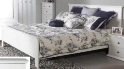 DOUBLE MALVERN (WD-155) BED - SATIN WHITE