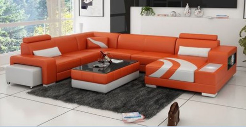 ZANA BONDED LEATHER CHAISE LOUNGE ( MODEL-G1112) - CHOICE OF LEATHER AND ASSORTED COLOURS AVAILABLE