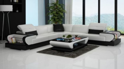 ZITTOMA  BONDED LEATHER CORNER  LOUNGE ( MODEL-G1106B) - CHOICE OF LEATHER AND ASSORTED COLOURS AVAILABLE