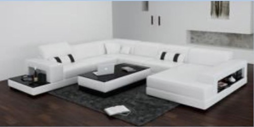 PATTERSON  BONDED LEATHER CHAISE LOUNGE SUITE( MODEL- G1101) - CHOICE OF LEATHER AND ASSORTED COLOURS AVAILABLE