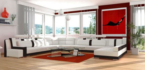 JEBIR  BONDED LEATHER CHAISE LOUNGE SUITE( MODEL- G1096) - CHOICE OF LEATHER AND ASSORTED COLOURS AVAILABLE