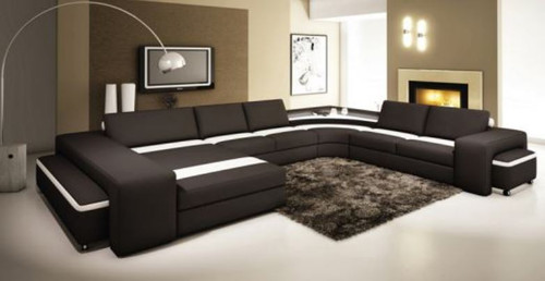 VERANICA  BONDED LEATHER  CHAISE LOUNGE SUITE( MODEL- G1094) - CHOICE OF LEATHER AND ASSORTED COLOURS AVAILABLE