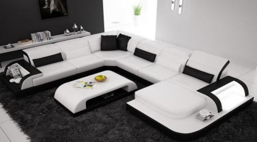 LANGO II  BONDED LEATHER  CHAISE LOUNGE SUITE( MODEL- G1093) - CHOICE OF LEATHER AND ASSORTED COLOURS AVAILABLE