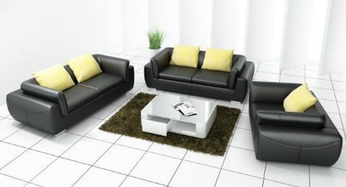 BUCCI 3S + 2S +1S SEATER BONDED LEATHER   LOUNGE (MODEL- G5090) - CHOICE OF LEATHER AND ASSORTED COLOURS AVAILABLE