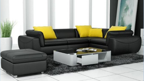 BUCCI  LEATHER  CORNER LOUNGE SUITE ( MODEL- G1090B) - CHOICE OF LEATHER AND ASSORTED COLOURS AVAILABLE