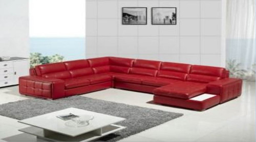 DOBALLE LEATHER CHAISE LOUNGE (MODEL- G1078) - CHOICE OF LEATHER AND ASSORTED COLOURS AVAILABLE