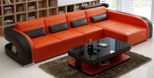 CHESIL LEATHER CHAISE  LOUNGE  (MODEL- G1071C) - CHOICE OF LEATHER AND ASSORTED COLOURS AVAILABLE